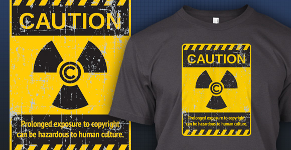 Caution: Copyright by Techdirt on Teespring